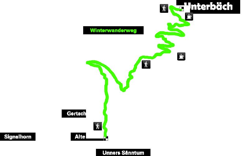 Karte Winterwanderung